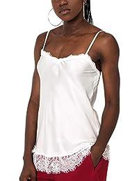 Mers Style Top Lencero con Encaje y Tirantes para Mujer