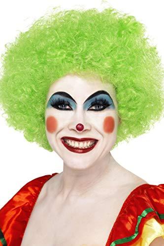 Smiffys Unisex Verrückter Clown Perücke, One Size, Grün, 42084