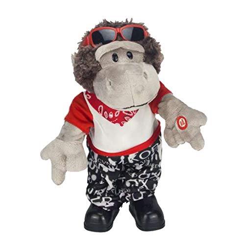 Haustier Stofftier mit Musik, Plüsch Affe / Pferd / Alien Puppe Kuscheltier Spielzeug Geschenke für Baby und Kinder - Affe - 6, 33cm ()