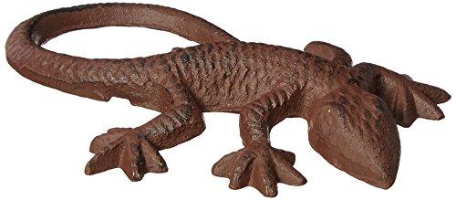 Esschert Design Accessoire de décoration en Forme de Salamandre, en Alliage Fonte,15,1 x 10,4 x 2,8 cm