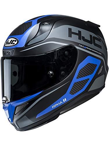 Casco Moto Hjc Rpha 11 Saravo Blu (S, Blu)
