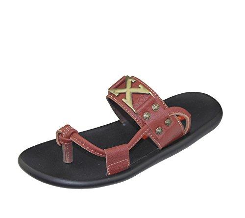 Herren Slip auf Hausschuhe Strand Walking Sommer Casual Fashion Flip Flop Sandale Größe Kastanienbraun