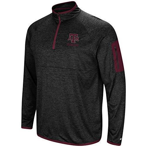Colosseum NCAA Herren Scrimmage 1/4 Zip Windshirt Pullover, Herren, Texas A&M Aggies-Heathered Black, XX-Large 1/4 Zip Windshirt