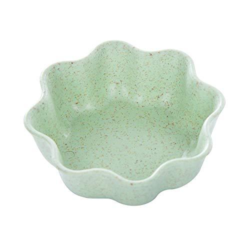 WARMTOWE Mini-Gewürzschale mit Weizenstrohhalm, solide, würzige Soßenschale, Gewürzschale, Salz, Snack, Kleiner Teller grün grün Plum Blossom