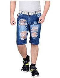 Krystle Boy's Distressed Cotton Denim Shorts