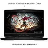 Dell Alienware m15 15.6-inch FHD Gaming Laptop (Core i7-7700HQ/8GB/1 TB HDD + 256Gb SSD/Windows 10 + MS Office/Nvidia GTX 1060 6GB Graphics)