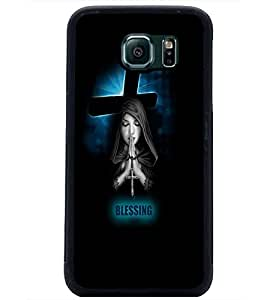 PrintDhaba Praying Girl D-3479 Back Case Cover for SAMSUNG GALAXY S6 (Multi-Coloured)