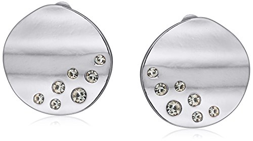 t-tahari-disc-buttons-silver-clip-on-earrings