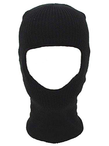 Militär a Cagoule 1 Trou Noir tricoté