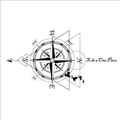 Ruofengpuzi Tattoo Aufkleberursprüngliche Piraten-Tätowierungs-Aufkleber-wasserdichte Dauerhafte Männliche Herrschsüchtige Kompass-Kompass-Linie