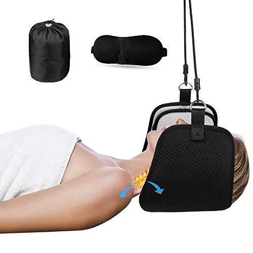 Kitymate Hängematte für Hals Kopf Nacken Massagegerät Damen Herren Tragbare Nackenmassagegerät Relax Massagegerät mit Augenbinde