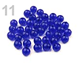 10g 11 Azul Cobalto de Plástico Redondas Perlas de Ø8mm Transparente, Y FIMO