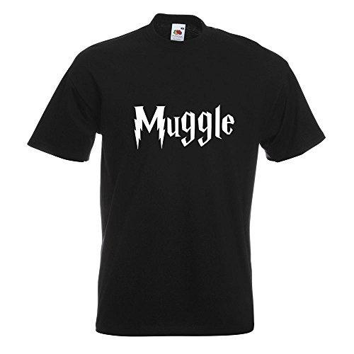 KIWISTAR - Muggle - Muggel T-Shirt in 15 verschiedenen Farben - Herren Funshirt bedruckt Design Sprüche Spruch Motive Oberteil Baumwolle Print Größe S M L XL XXL Schwarz