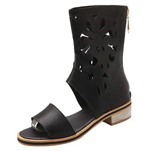 Azbro - Pantofole a Stivaletto Donna Black