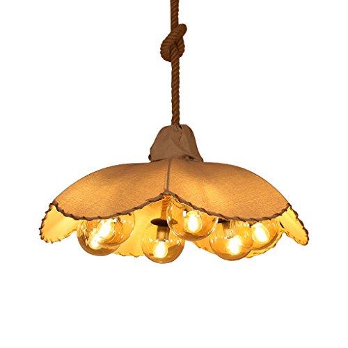 Sonnenschirm Kronleuchter, amerikanische Land Schlafzimmer Wohnzimmer handgewebte Leinen Lampe,...