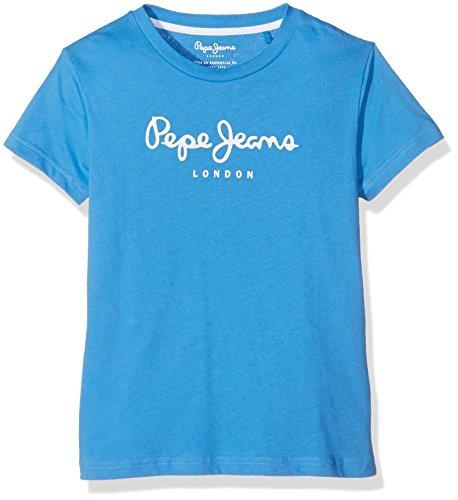 pepe-jeans-art-t-shirt-uni-garcon-bleu-summer-blue-fr-10-ans-taille-fabricant-10-ans