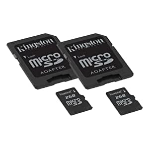 Contour ContourROAM2 Camcorder Memory Card 2 x 2GB microSDHC Memory Card with SD Adapter (2 Pack)