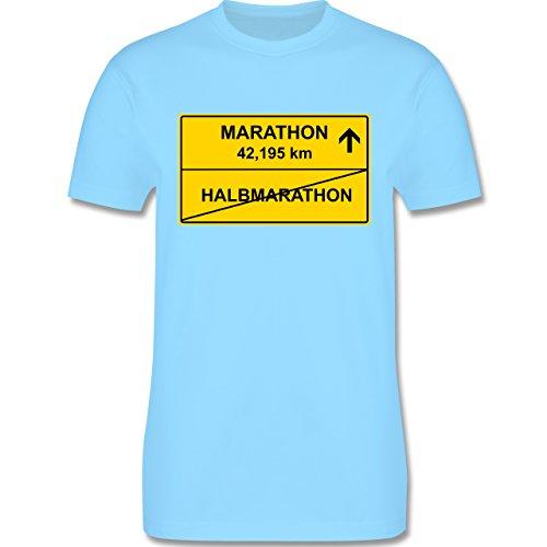 Laufsport - Marathon - Herren Premium T-Shirt Hellblau