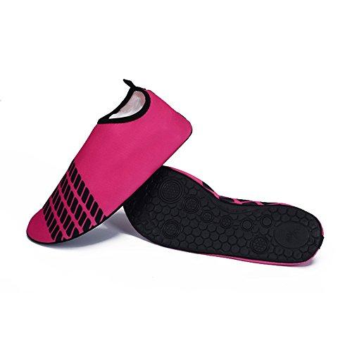 Eastlion Männer Frauen Badeschuhe Jogging Strand Schnorcheln weiche Schuhe leicht zu tragen rose