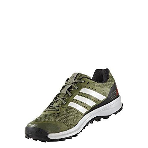 adidas Duramo 7 Trail M, Scarpe da Corsa Uomo, Verde (Verde (Verbas / Verart / Ftwbla)), 42 EU