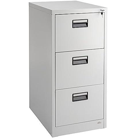 TecTake Armoire à dossiers metallique bureau - Tiroirs pour dossiers suspendus au format DIN 4 (HxlxP) : env. 62,5 x 46 x 103