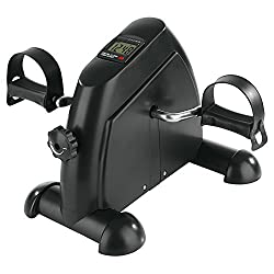 VITALmaxx 04936 Mini Trainer | Incl. Training computer | Trains arm, leg muscles & endurance | For young and old | black