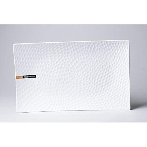 Table Passion - plat rectangle porcelaine blanche 30x18cm