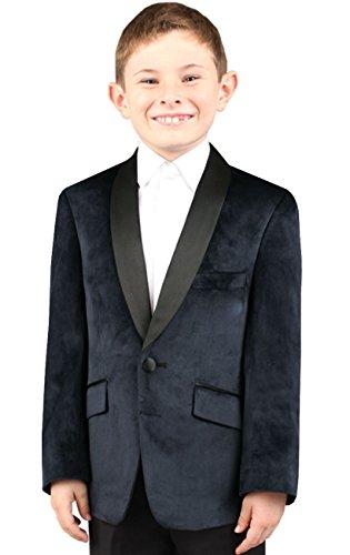 blau Samt Jackett Festlich Hochzeit 1 Knopf Anzugjacke Blau Alter 15-16 (Jungen Cord-blazer)