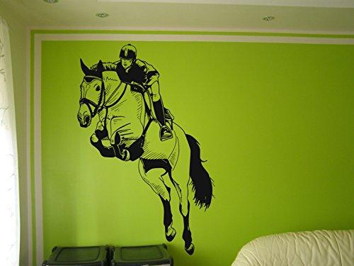 jockey-on-jumping-horse-pegatina-de-pared-arte-decorativo-caballo-vinilo-arte-de-pared-saltando-caba