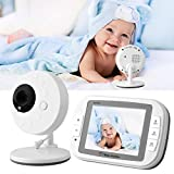 Baby Monitor, 3.5 '' TFT Video digitale wireless Baby Monitor Telecamera di sicurezza Sensore di temperatura per visione notturna(EU)