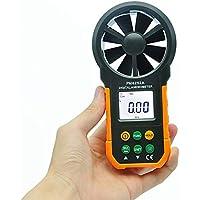 HJJH Anemómetro Digital Medidores De Temperatura Y Humedad Medidor USB Portátil Medidor Electrónico De Velocidad del Viento Medidor De Medición De Volumen De Aire Retroiluminación(Sin Bateria)