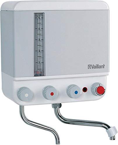 Vaillant 005122 VEK - Calentador de agua eléctrico (5 litros, 2,4 kW / 230 V) con señal sonora, color blanco y gris