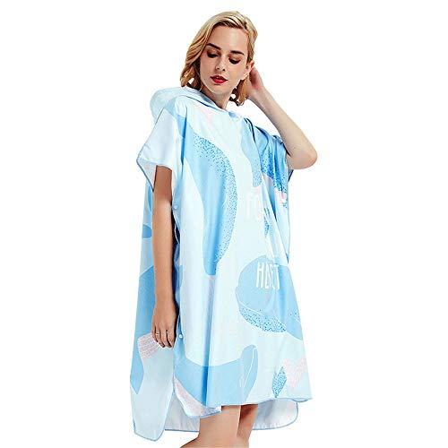 H-C BATHROOM Badprodukte Unisex Adult Beach Towel Change Robe mit Kapuze Poncho Surfen, Schwimmen, Tauchen Anzug ändern Einfach und praktisch -