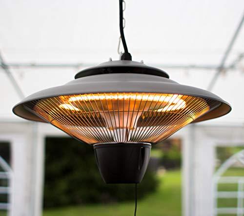 Firefly 1.500 Watt Infrarot-Heizstrahler (Halogen) Terrassenheizung, Deckenmontage (Silber) - 2