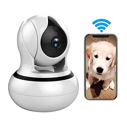 LEERAIN HD Animale Domestico Fotocamera Ip, Senza Fili Cane Telecamera di Sicurezza, Rilevazione del Movimento/Visione Notturna/Audio Bidirezionale per Il Bambino/Cane/Gatto,1080p