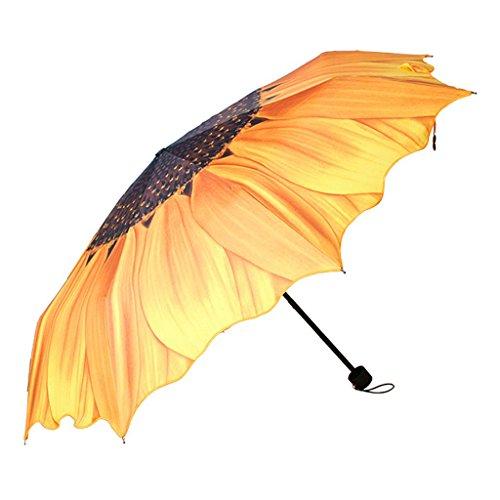 Sonnenblumen Regenschirm koreanischen Regenschirm faltende weibliche Anti - UV Sonnenschirm dreifach Regenschirm kreative ultra - Licht Vintage-sonnenblume-dekor