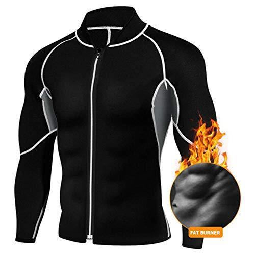 Herren Schwitzanzug Wicking Sportswear Sauna Suit Schlankheits-Fitness-Jacke Langärmelige Strumpfhosen Neopren Gewichtsverlust Für Männer Workout Sweatshirts Formt