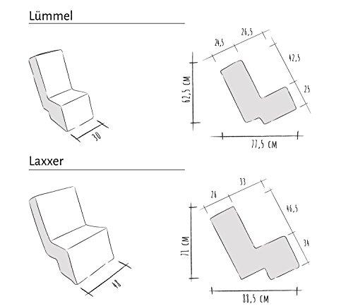Laxxer Erlebnismöbel | Hochwertiger Polstersessel/Polstersofa mit Abnehmbaren Stoff-Bezug zum Sitzen, Spielen und Erleben | Loungemöbel/Spielmöbel für Kinder und Erwachsene | rot