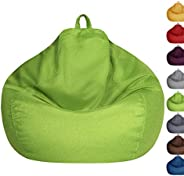 Bean Bag Chair Cover Only Without Filling - Extra Large, Stuffed Animal Storage&Memory Foam - Washable Pre