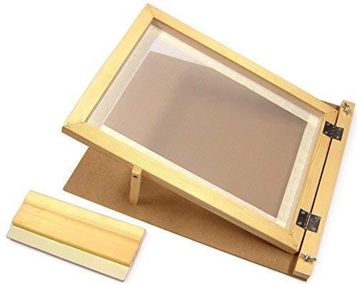 Major Brushes A3-Siebdruck-Starter-Set, aus Holz, mit Scharnieren, Rakel -