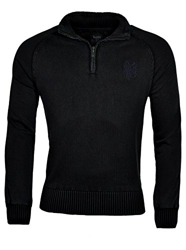 hajo - Pull - Manches Longues - Homme Schwarz