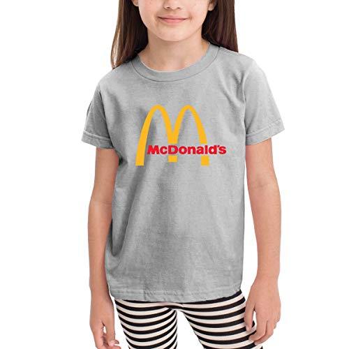 Kinder Baby Mädchen Jungen Sommer T-Shirt McDonalds Logo T Shirt Shirts Für Kleinkind Mädchen Jungen Kurzhülse Grau 4 T Solid-footed Sleeper Pajamas
