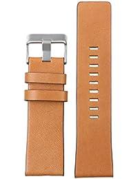 26mm marrón bandas italianas vendimia wide reloj de cuero perfil recto uniflow plana para grandes relojes