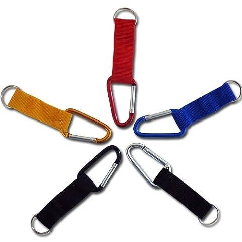 Partynelly® 8x Karabiner Schlüsselanhänger | mit Band | Mitgebsel zum Jungengeburtstag, für Entdecker, Forscher, Detektive, Polizei, Feuerwehr, Piraten uvm.