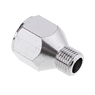 non-brand MagiDeal 1/4'' BSP Female to 1/8'' BSP Male Airbrush Hose Fitting Adaptor Connector System