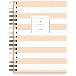 Charuca CU36 - Cuaderno con hoja rayada y diseño Rayas, A5/156 x 217 mm, color salmón