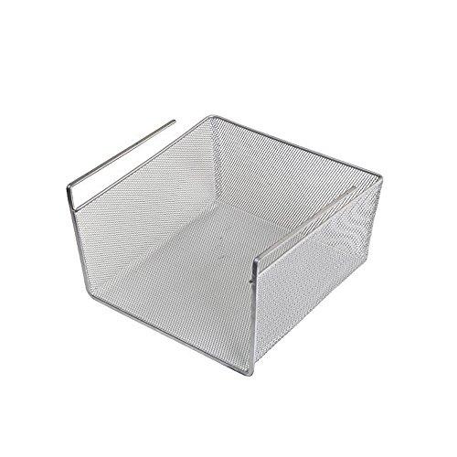 LaCyan Hängekorb Aufbewahrungskorb Schrankkorb Drahtkorb für Kleiderschrank Schränke Küche Metall Größe S - Schrank Körbe