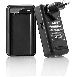 Aukru® Chargeur de batterie adaptateur Pour Samsung Galaxy S5 SV SM-G900 I9600 avec EU plug chargeur mural USB port (Noir)