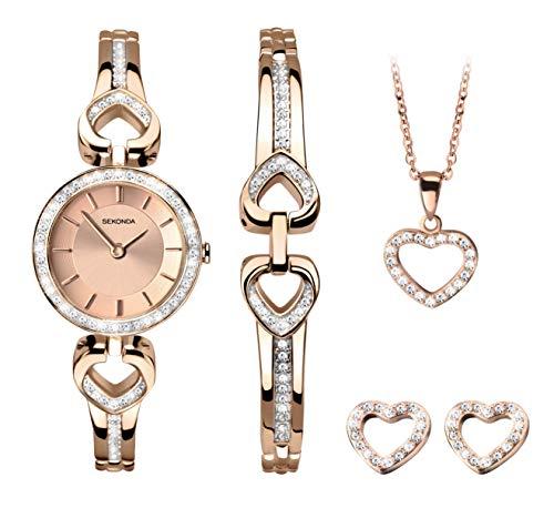 Sekonda Watches Orologio Analogico Quarzo Donna con Cinturino in Oro Rosa 2363G.68