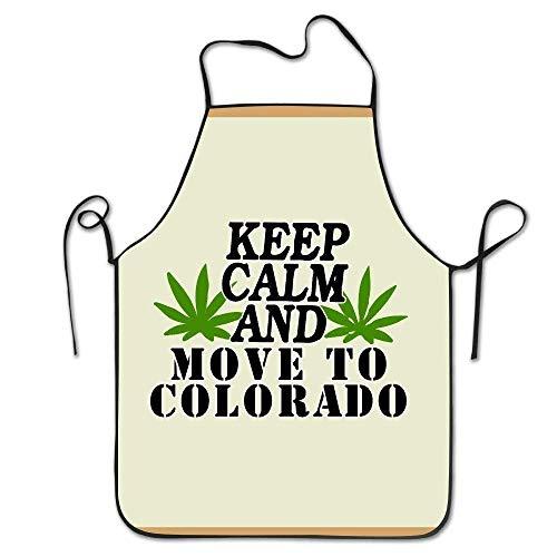 Pillow Hats Kissen Hüte Fashion Keep Calm und Bewegen zu Colorado Verstellbar Lätzchen Chef Schürze Home Kitchen Schürze für Backen Easy Care